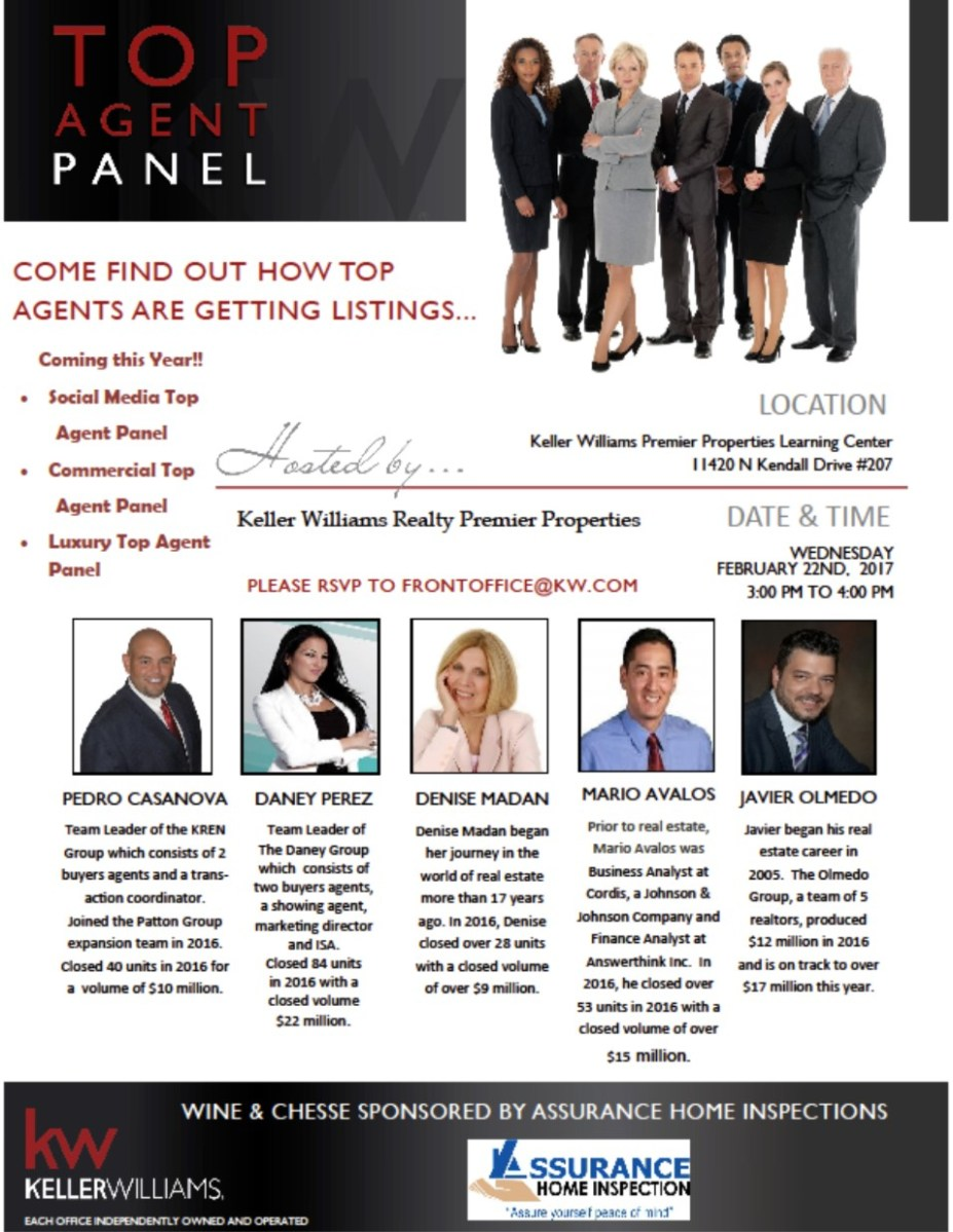 Top Agent Panel Invitation, Hosted By KW