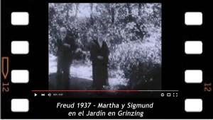 Freud 1937 - Martha y Sigmund en el Jardín en Grinzing