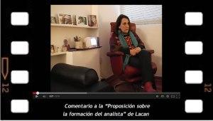 """Ana Ruth habla del texto de Jacques Lacan """"Proposición sobre la formación del analista""""."""