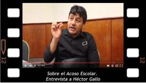 Entrevista a Hector Gallo sobre El acoso escolar