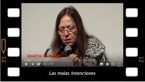 Las malas intenciones. Conferencia de Marita Hamann