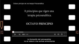 Octavo Principio del acto analítico. Sobre la formación del psicoanalista