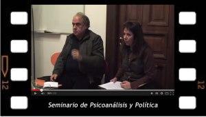 Seminario de Posgrado: Filosofía Política y Psicoanálisis con Jorge Alemán