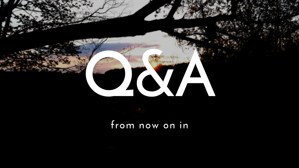 Q&A FROM NOW ON IN
