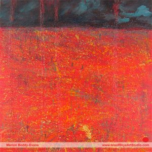 Seeing Red Painting by Scottish artist Marion Boddy-Evans