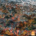 Detail from Across the Minch Painting seascape by Marion Boddy-Evans Scotland Artist