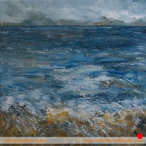 Edge of the Cuillin  painting by Marion Boddy-Evans