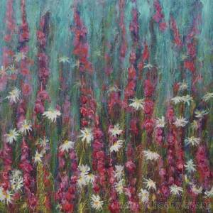 Flower Painting: Listening to Daisies II by Marion Boddy-Evans Isle of Skye Scotland
