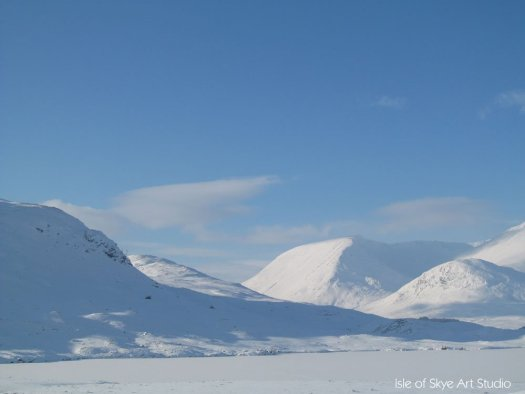 Snow: Rannoch Moor looking west