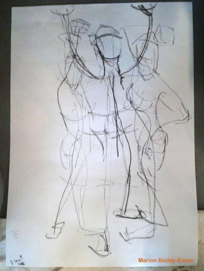 3 minute figure gesture drawings