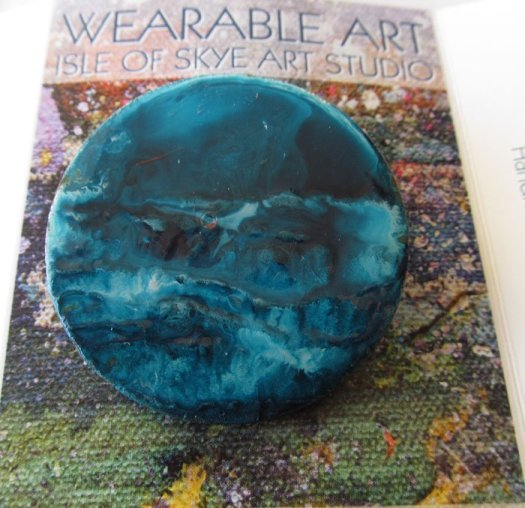 Wearable Art Brooch Painting by Marion Boddy-Evans