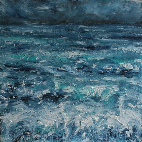 Minch Seascape Painting: Storm Warming