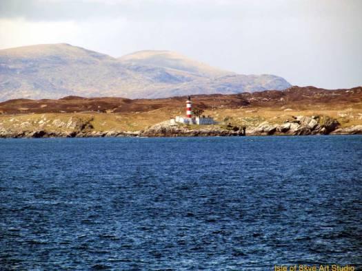 Uig to Stornoway Ferry Trip: Lighthouse