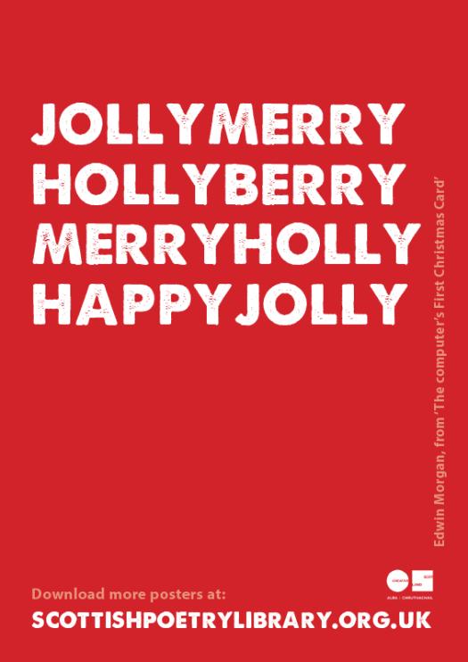 SPL Poster Computer's first christmas card Edwin Morgan