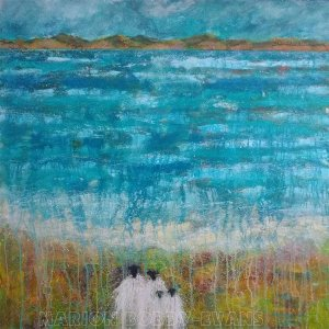 Beside the Sea (Sheep Painting)