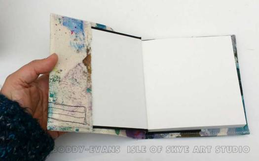 Sewing fabric sketchbook covers