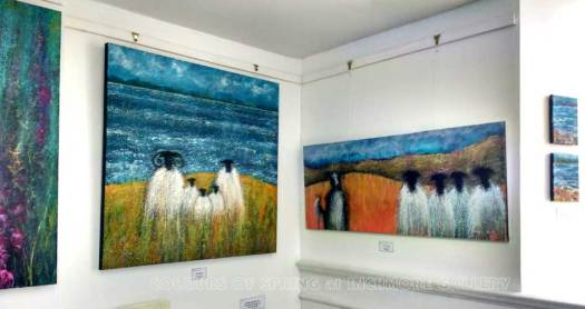 Inchmore Colours of Spring Exhibition Sheep and Sheepdog