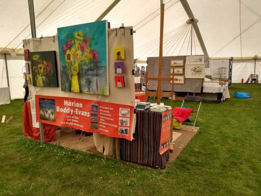 Artist Marion Boddy-Evans at Patchings Art Festival 2017
