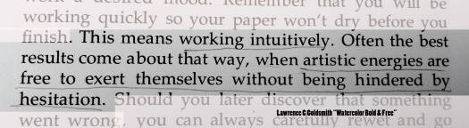 art quote intuitively