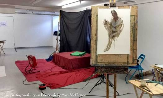 Life Painting Workshop in Edinburgh taught by Alan McGowan