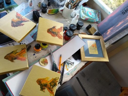 Little goldfish paintings