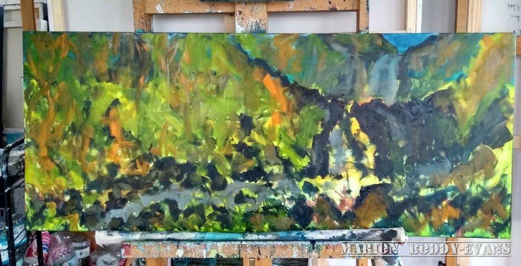 Painting River Rha Waterfall