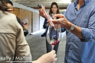 Wine samples from barrels at Mt. Lehman Winery