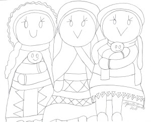 Coloring Pages from the Pittsburgh Folk Festival