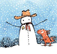 snowman-and-red-critter