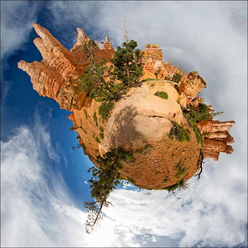 Little Planet view of Canyonlands, Utah.