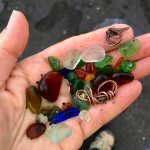 Handful of sea glass