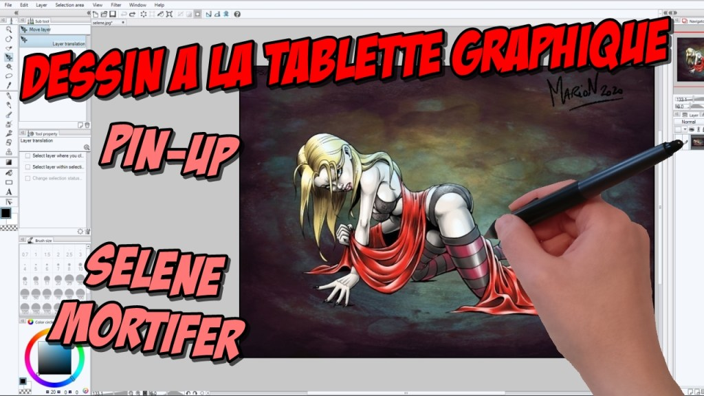 Making-of Vidéo : pin-up Sélène Mortifer