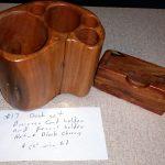 17 - Wood Desk Set
