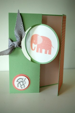 stampinup_thinlits pop up_zoo babys_babykarte