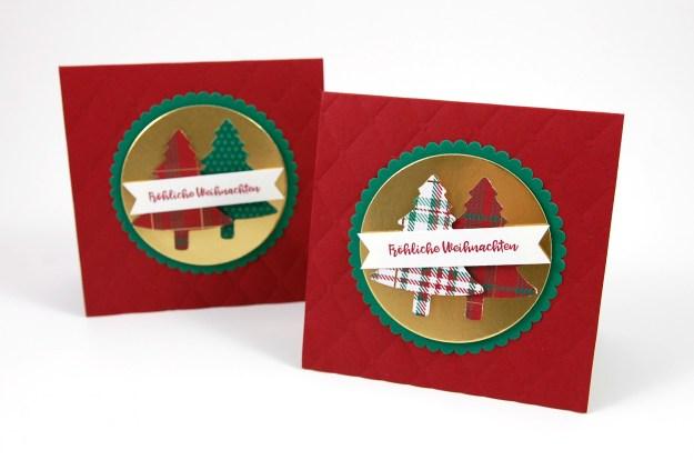 Weihnachtskarten mit Tannenbaum-Motiv von Stampin' Up