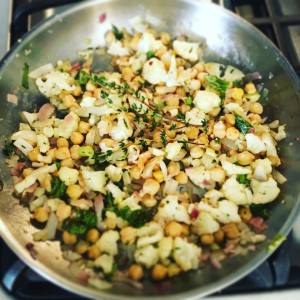 cauliflower, chick peas and Thyme