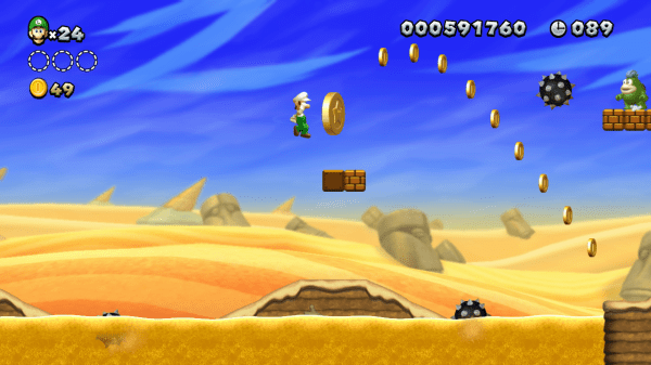 Castle Mario Coins 5 Super