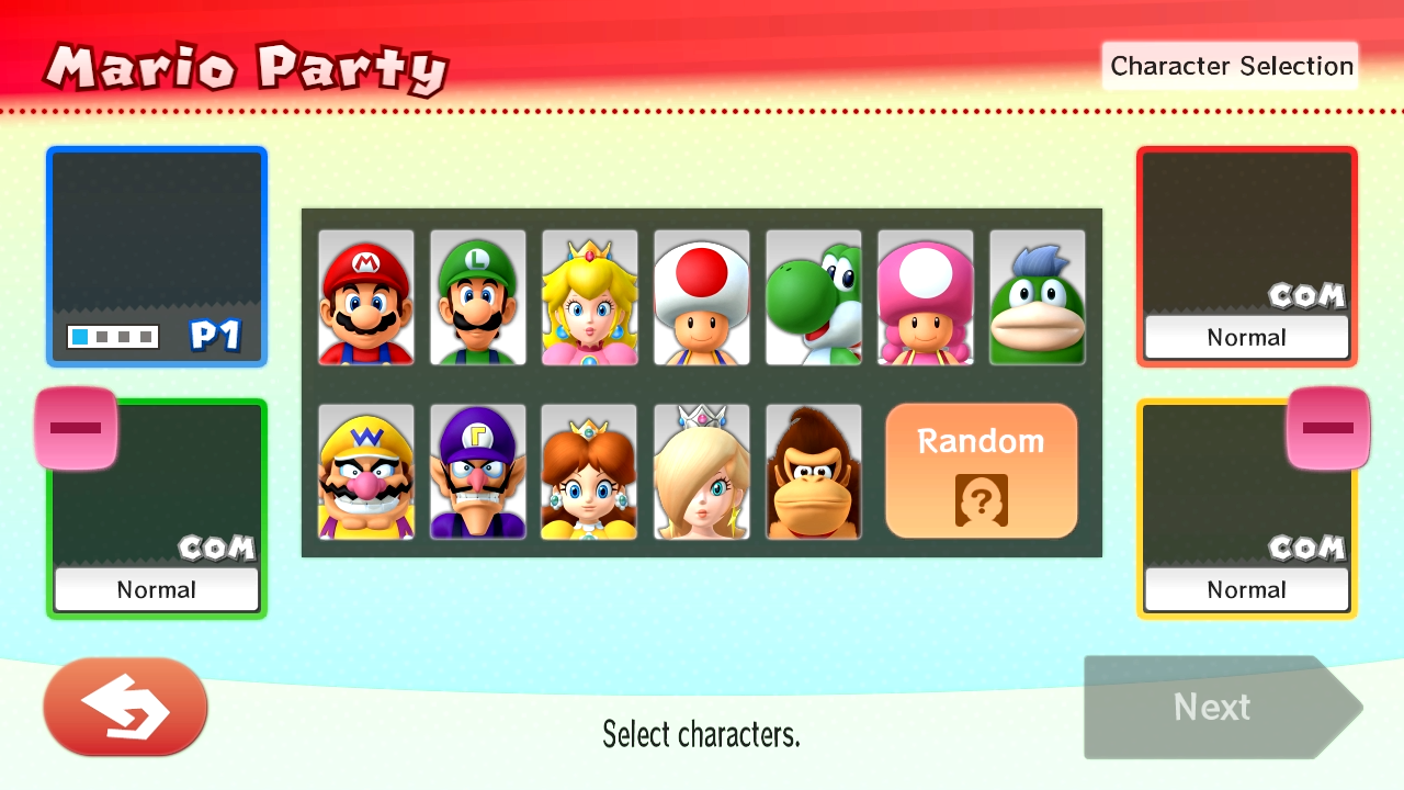 mario party 10 characters