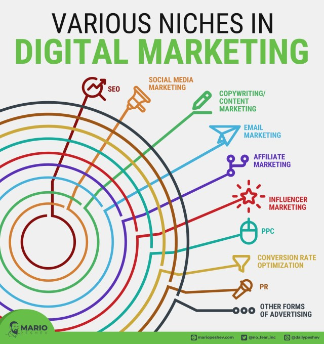 Various niches in digital marketing