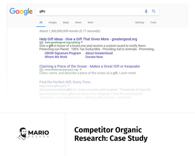 Competitor Organic Research: Case Study | Website SEO - A case study
