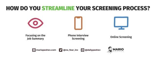streamlining your screening process
