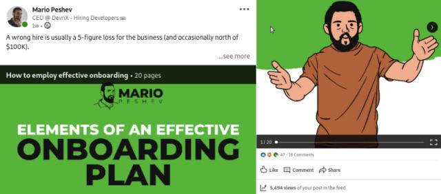 organic views for LinkedIn slides