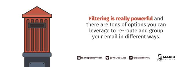 filtering emails