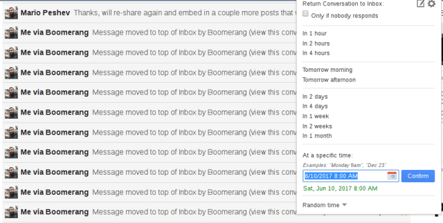 Boomerang screenshot