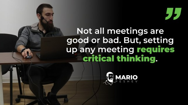 Why Set Up A Meeting