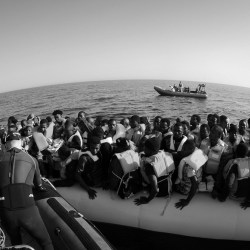 LÉ Róisín Rescues 371* Migrants in Three Separate Search and Rescue Operations 37 Nautical Miles NW of Tripoli, taken on June 27, 2016, (CC) Óglaigh na hÉireann