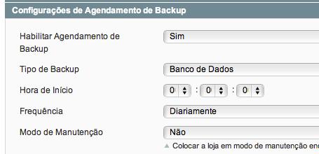 agendamento de backup
