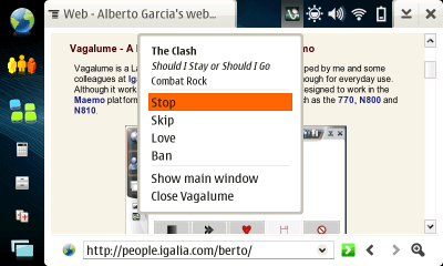 Vagalume status bar plugin screenshot