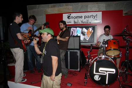 Jam session at the Igalia Party