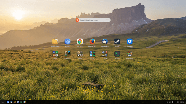 Endless OS 3.2 as it looks in my laptop right now